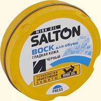 Черный воск для обуви Salton