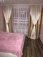 Готовые шторы из плотной ткани., фото 1