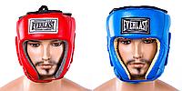 Шлем боксерский открытый кожа Everlast , фото 1
