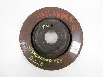 Диск тормозной передний D328 Toyota Highlander (XU40) 07-13 (Тойота Хайлендер)  4351248110