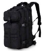 Туристический (тактический) рюкзак на 30 литров RVL A10-черный, фото 1