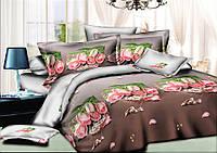 Комплект постельного белья полуторный, ранфорс 100% хлопок. Постільна білизна. (арт.8916)