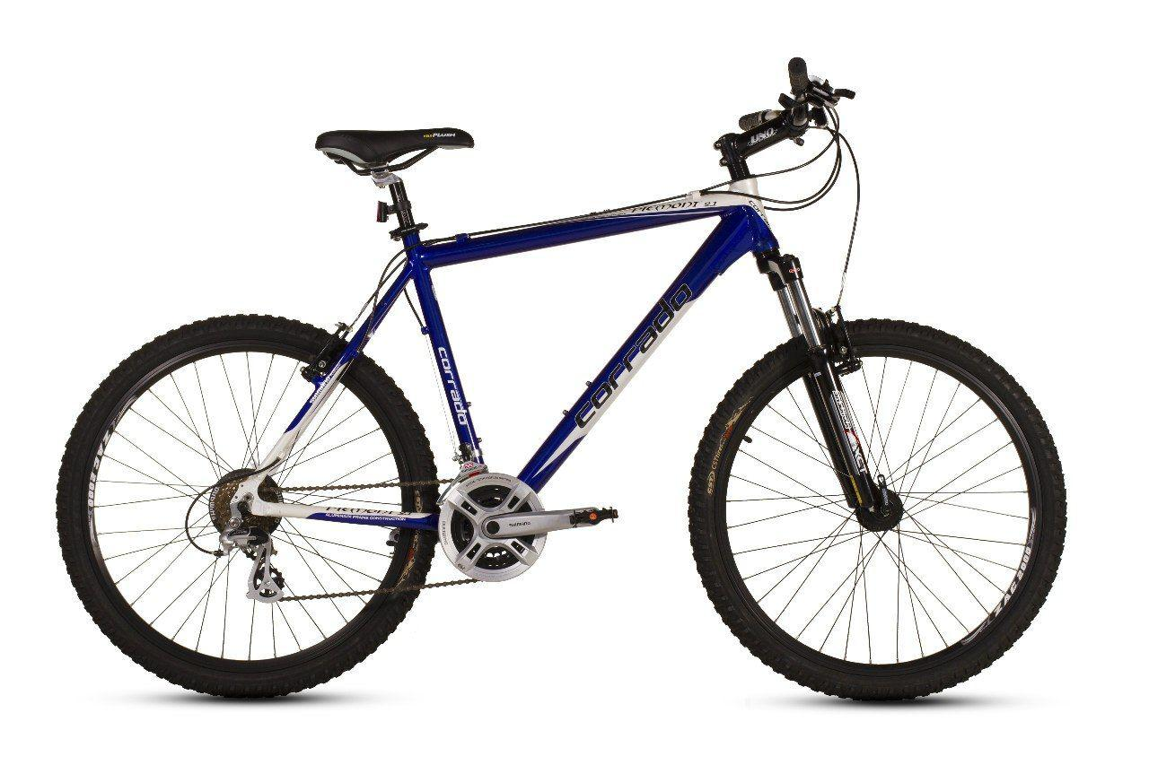 """Горный велосипед CORRADO """"PIEMONT DDISK"""" 26"""" алюминиевый с дисковыми тормозами, Бело-синий"""