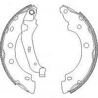 Барабанные тормозные колодки (задние) d=203x39mm на Renault Kangoo 98->08 REMSA 4043.00