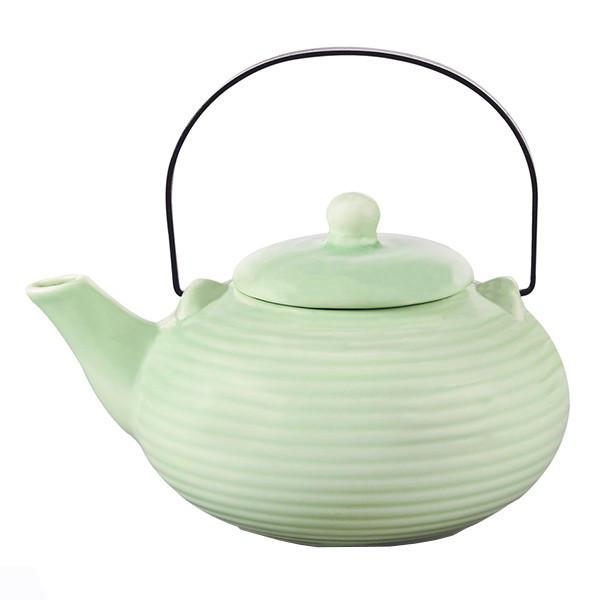 Чайник заварочный с ситечком Fissman 750 мл (Керамика с металлической ручкой)