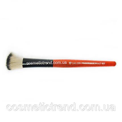 Кисть для макіяжу рівний зріз № 807 Salon Professional, фото 2