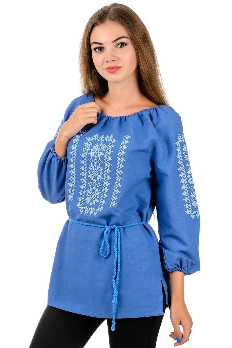 Сорочка вышиванка Орнамент (джинс)