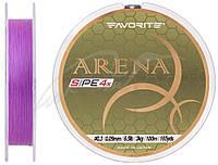Шнур Favorite Arena PE 4x 100m (purple) #0.3/0.09mm 6.5lb/3kg