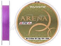 Шнур Favorite Arena PE 4x 100m (purple) #0.4/0.104mm 8lb/3.5kg