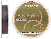 Шнур Favorite Arena PE 4x 100m (silver gray) #0.175/0.071mm 3.5lb/1.4kg
