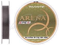 Шнур Favorite Arena PE 4x 100m (silver gray) #0.2/0.076mm 5lb/2.1kg