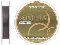 Шнур Favorite Arena PE 4x 100m (silver gray) #0.3/0.09mm 6.5lb/3kg