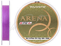 Шнур Favorite Arena PE 4x 150м (purple) #0.2/0.076 mm 5lb/2.1 kg