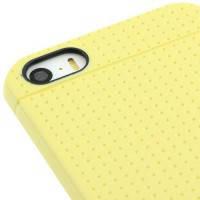 Ультратонкий желтый TPU чехол Dots Pattern для iPhone 5/5S/SE