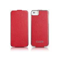Чехол iCarer Electroplating Flip Red для iPhone 5/5S/SE