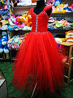 Красное бальное платье для девочки до 8 - 11 лет