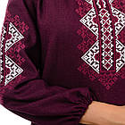 Сорочка вышиванка Украиночка (бордо), фото 4