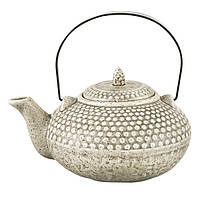 Чайник заварочный с ситечком Fissman 750 мл (Керамика с металлической ручкой), фото 1