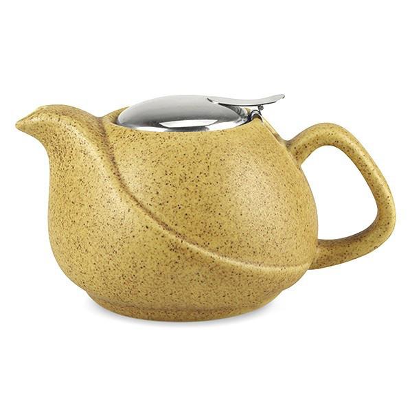 Чайник заварочный с ситечком Fissman 750 мл (Керамика с металлической крышкой)
