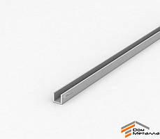 Швеллер алюмниевый 10х8х1.5 мм АД31Т5 с покрытием AS(серебро)