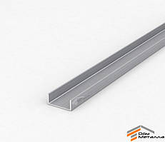 Швеллер алюмниевый 12.5х5х1.5 мм АД31Т5 с покрытием AS(серебро)