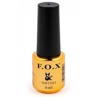 F.O.X Top No Wipe - закрепитель без липкого слоя для гель-лака, 6мл