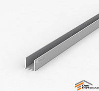 Швеллер алюмниевый 19.6х20х1.8 мм АД31Т5 с покрытием AS(серебро)