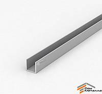 Швеллер алюмниевый 20х20х1.5 мм АД31Т5 с покрытием AS(серебро)