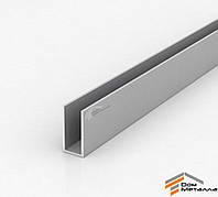 Швеллер алюмниевый 20х40х2 мм АД31Т5 с покрытием AS(серебро)