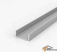 Швеллер алюмниевый 55х23х2.5 мм АД31Т5 с покрытием AS(серебро)