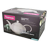 Чайник заварочный Fissman ELEGANCE WHITE 1 л (Керамика), фото 2