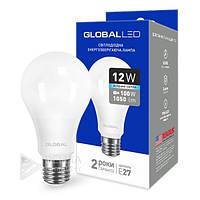Светодиодная лампа Global E27- 12w, 4100k, 1050Lm, шар, матовый, лампа лед Global E27, Лампа LED, Лампочки, LED