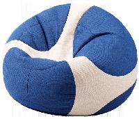 Кресло-мяч Евро в синем цвете, ткань Велюр El Dorado (размеры: S, M, L)