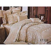 Элитный комплект постельного белья Жаккард-сатин Евро макси ТМ Viluta Tiare 1721