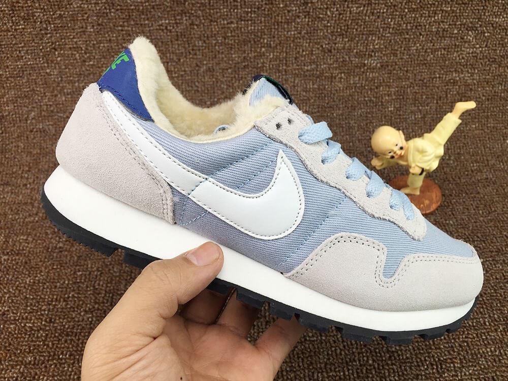 1b05cf7e Женские зимние кроссовки Nike Internationalist Light Blue-White Кроссовки Найк  женские(Арт. 1754