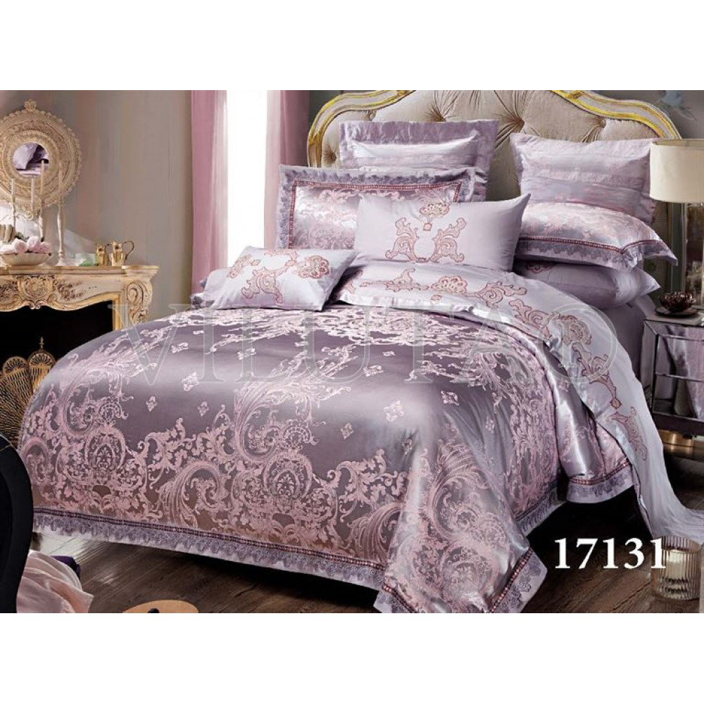 b9b4a4ed9927 Элитный комплект постельного белья Жаккард-сатин Евро макси ТМ Viluta Tiare  1731