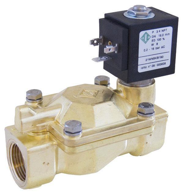 Электромагнитный клапан для воздуха 21W7ZB500 (ODE, Italy), G2, Купить в Киеве