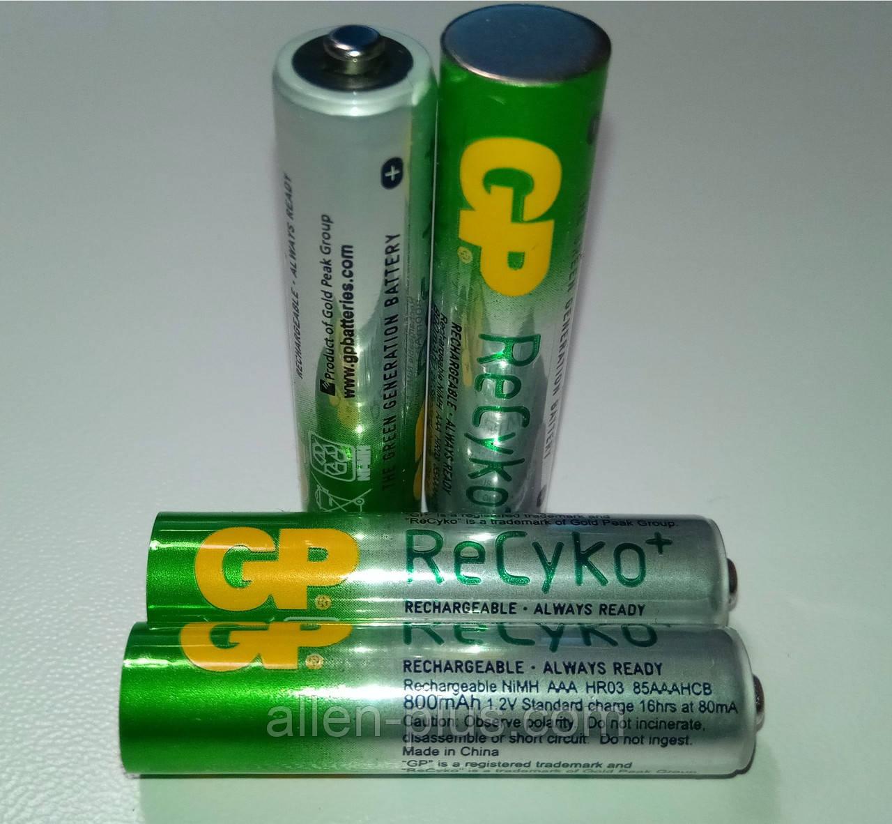 Аккумулятор GP Green Generation ReCyko+ АAА 1.2V 800mAh Ni-MH