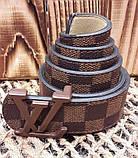 Пояс Louis Vuitton D2422 коричневый, фото 2