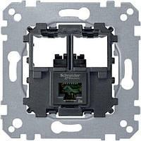 Механизм компьютерной розетки RJ45 Cat.5e (UTP) Merten MTN4575-0001
