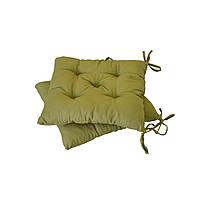 Подушка на стул зеленая
