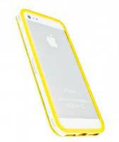 Прозрачный бампер с желтым ободком для iPhone 5/5S/SE