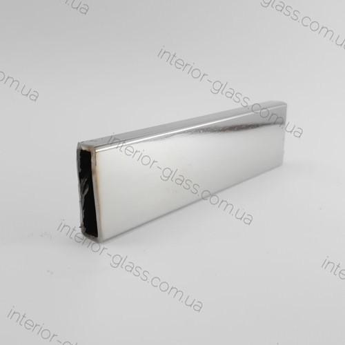 Прямоугольная труба (штанга, трек) для душевых кабин 30*10 мм