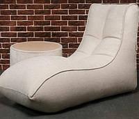 Бескаркасное кресло Лежак L-95*130 см. Ткань Рогожка