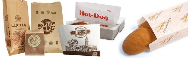 Бумажный пакет саше «уголок» под выпечку