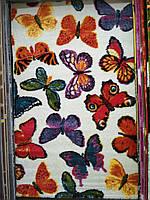 Ковер Fantasy бабочки на белом фоне 2.00х3.00 м.