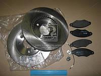 Комплект тормозной передн. RENAULT KANGOO 1.2-1.9D 97-,NISSAN KUBISRAR (пр-во REMSA), AFHZX