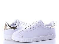 Подростковые кроссовки оптом  для девочек 66-11A Gold (12/6пар 31-36)