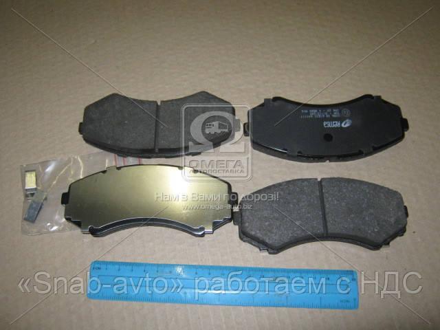 Колодка тормозная MITSUBISHI PAJERO III 00-,IV 07-,GRANDIS 04- передн. (производство REMSA) (арт. 0396.00), ADHZX