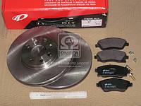 Комплект тормозной передн. OPEL COMBO 10/01- CORSA C 9/00-6/06 MERIVA 5/03- TIGRA (пр-во REMSA), AGHZX